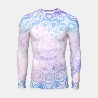 Miniaturka Heart Mandala on Unicorn Pastel Clouds #1 #decor #art Longsleeve rashguard, Live Heroes