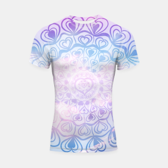 Miniaturka Heart Mandala on Unicorn Pastel Clouds #1 #decor #art Shortsleeve rashguard, Live Heroes