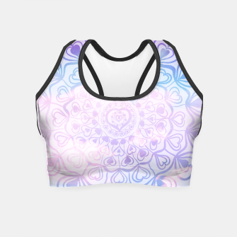 Miniaturka Heart Mandala on Unicorn Pastel Clouds #1 #decor #art Crop Top, Live Heroes