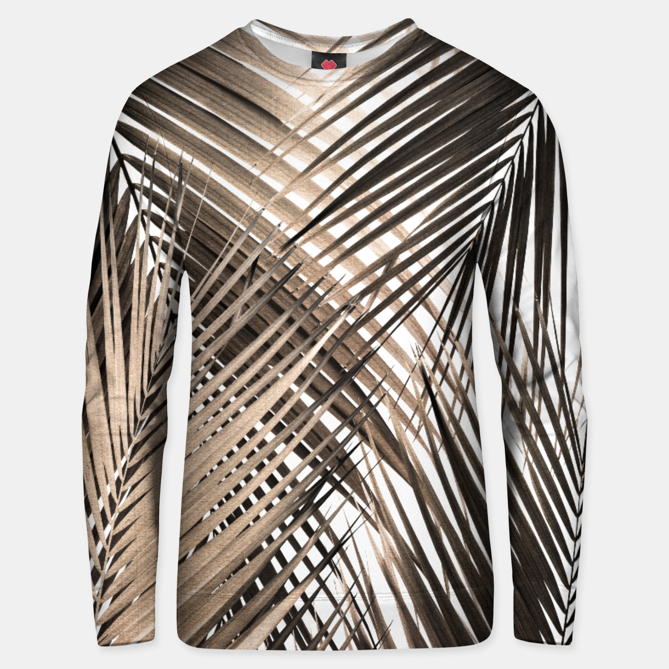 Image of Golden Brown Palm Leaves Dream - Cali Summer Vibes #1 #tropical #decor #art  Unisex sweatshirt - Live Heroes