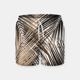 Thumbnail image of Golden Brown Palm Leaves Dream - Cali Summer Vibes #1 #tropical #decor #art  Badeshorts, Live Heroes