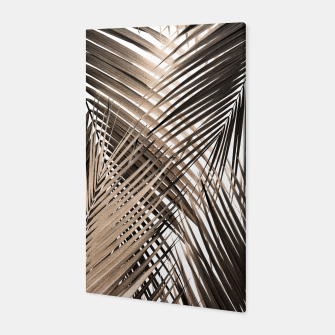 Golden Brown Palm Leaves Dream - Cali Summer Vibes #1 #tropical #decor #art  Canvas thumbnail image