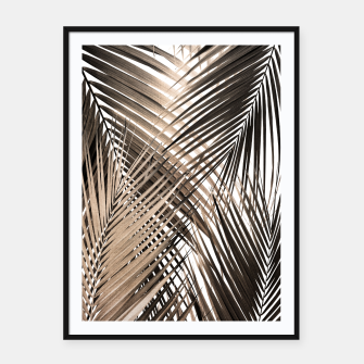 Imagen en miniatura de Golden Brown Palm Leaves Dream - Cali Summer Vibes #1 #tropical #decor #art  Plakat mit rahmen, Live Heroes