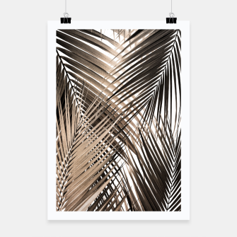 Imagen en miniatura de Golden Brown Palm Leaves Dream - Cali Summer Vibes #1 #tropical #decor #art  Plakat, Live Heroes