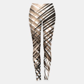 Miniatur Golden Brown Palm Leaves Dream - Cali Summer Vibes #1 #tropical #decor #art  Leggings, Live Heroes