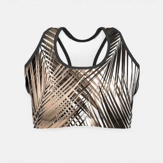 Imagen en miniatura de Golden Brown Palm Leaves Dream - Cali Summer Vibes #1 #tropical #decor #art  Crop Top, Live Heroes