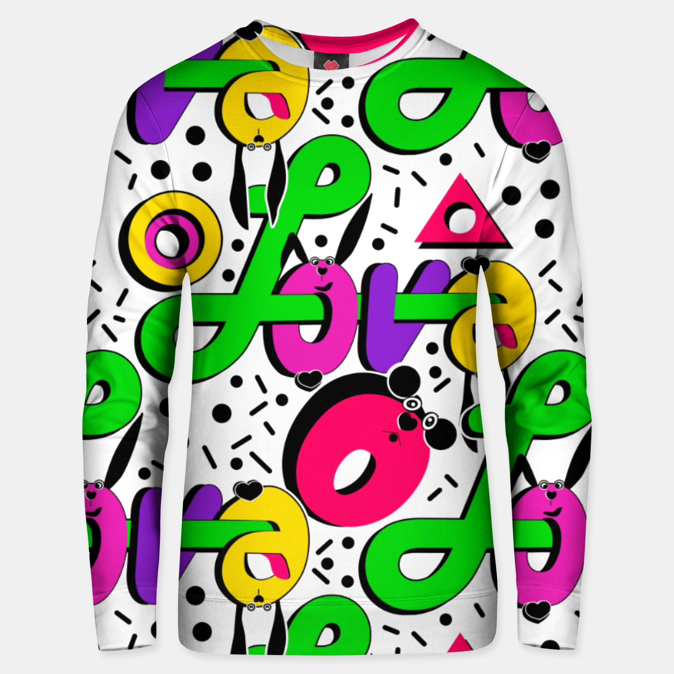 Image of Abstract graffiti style modern love shapes geometrical print Unisex sweater - Live Heroes