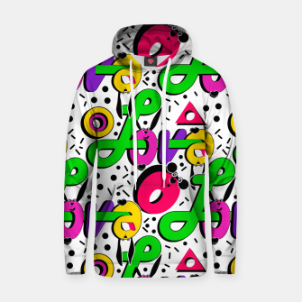 Abstract graffiti style modern love shapes geometrical print Hoodie thumbnail image