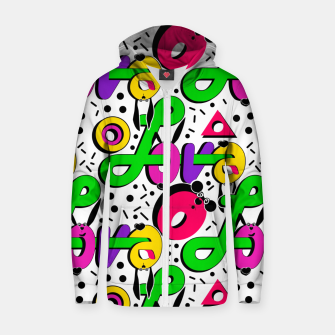 Abstract graffiti style modern love shapes geometrical print Zip up hoodie thumbnail image