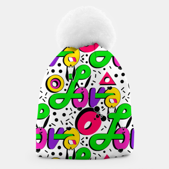 Abstract graffiti style modern love shapes geometrical print Beanie thumbnail image