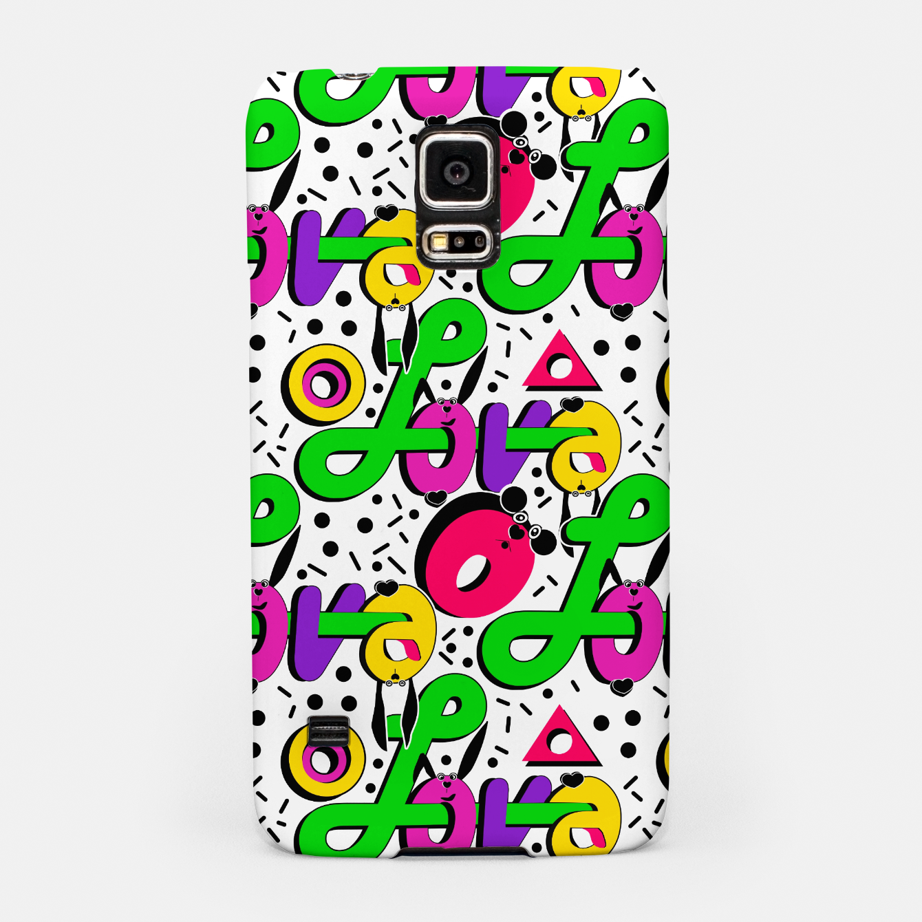 Image of Abstract graffiti style modern love shapes geometrical print Samsung Case - Live Heroes