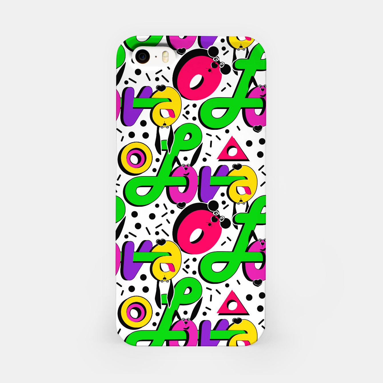 Image of Abstract graffiti style modern love shapes geometrical print iPhone Case - Live Heroes