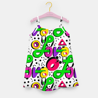 Abstract graffiti style modern love shapes geometrical print Girl's dress thumbnail image