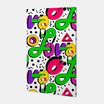 Abstract graffiti style modern love shapes geometrical print Canvas thumbnail image