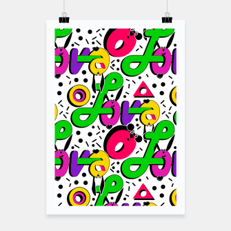 Abstract graffiti style modern love shapes geometrical print Poster thumbnail image