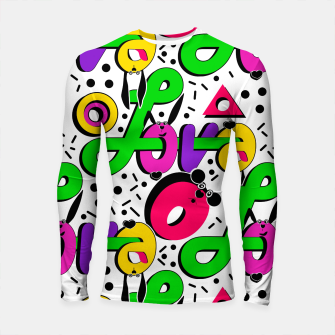 Abstract graffiti style modern love shapes geometrical print Longsleeve rashguard  thumbnail image