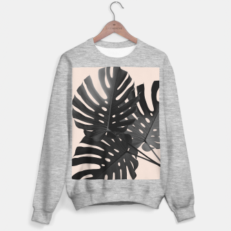 Tropical Monstera Finesse Glam #1 #tropical #decor #art Sweatshirt regulär thumbnail image