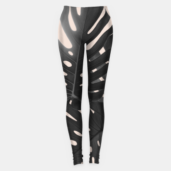 Tropical Monstera Finesse Glam #1 #tropical #decor #art Leggings thumbnail image
