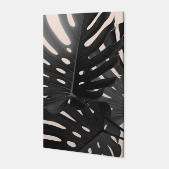 Tropical Monstera Finesse Glam #1 #tropical #decor #art Canvas thumbnail image