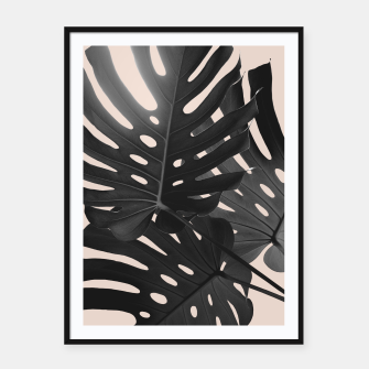 Tropical Monstera Finesse Glam #1 #tropical #decor #art Plakat mit rahmen thumbnail image
