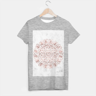 Miniaturka Heart Mandala on Marble #1 #decor #art  T-Shirt regulär, Live Heroes