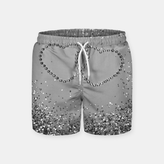 Miniaturka In Love Sparkling Glitter Hearts #3 (Faux Glitter) #silver #decor #art Badeshorts, Live Heroes