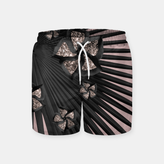 Thumbnail image of Fan Palm Floral Glitter Glam #3 #tropical #decor #art Badeshorts, Live Heroes