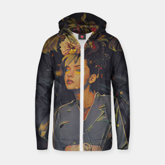 Thumbnail image of Floral Fashion Zip up hoodie, Live Heroes