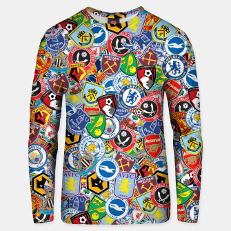 Thumbnail image of Premier League stickerbombing Unisex sweater, Live Heroes