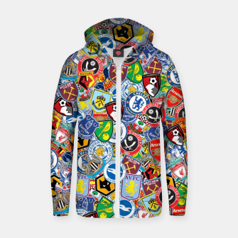 Thumbnail image of Premier League stickerbombing Zip up hoodie, Live Heroes