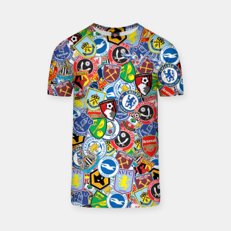 Thumbnail image of Premier League stickerbombing T-shirt, Live Heroes