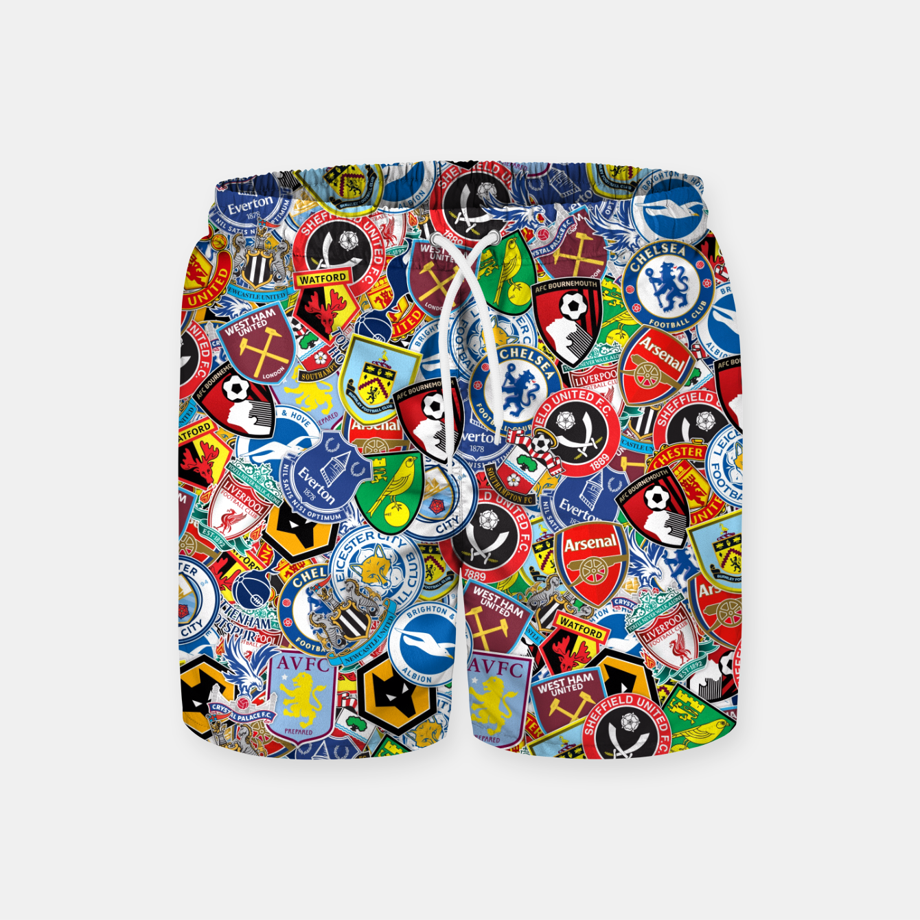 Image of Premier League stickerbombing Swim Shorts - Live Heroes