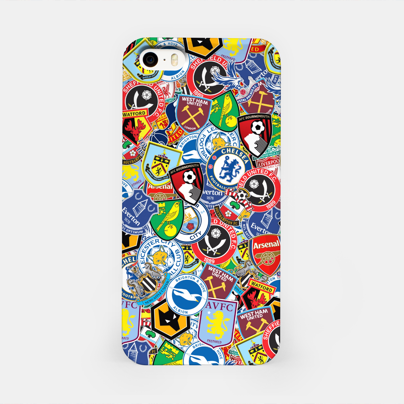 Image of Premier League stickerbombing iPhone Case - Live Heroes