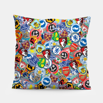 Premier League stickerbombing Pillow thumbnail image