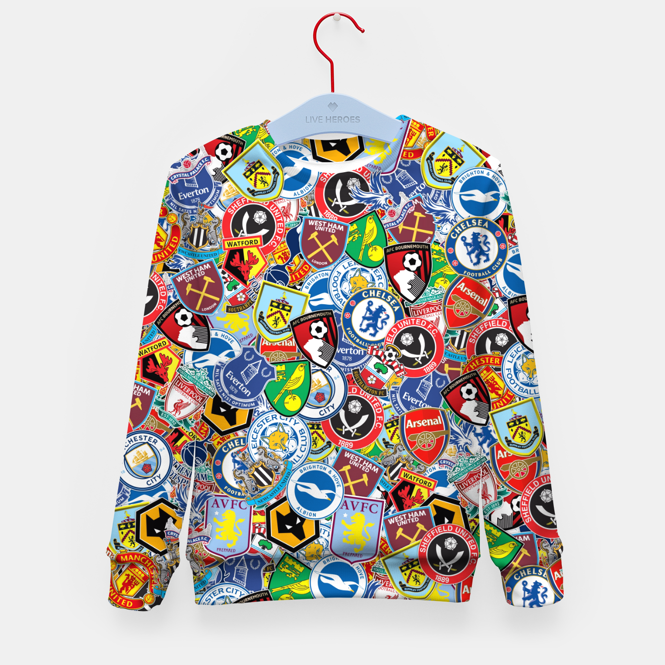 Image of Premier League stickerbombing Kid's sweater - Live Heroes