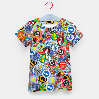 Thumbnail image of Premier League stickerbombing Kid's t-shirt, Live Heroes