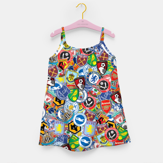 Thumbnail image of Premier League stickerbombing Girl's dress, Live Heroes
