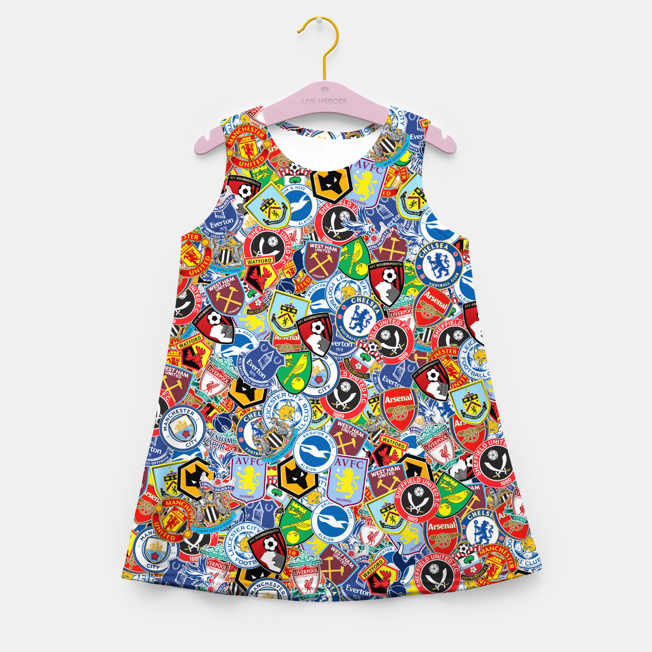 Image of Premier League stickerbombing Girl's summer dress - Live Heroes