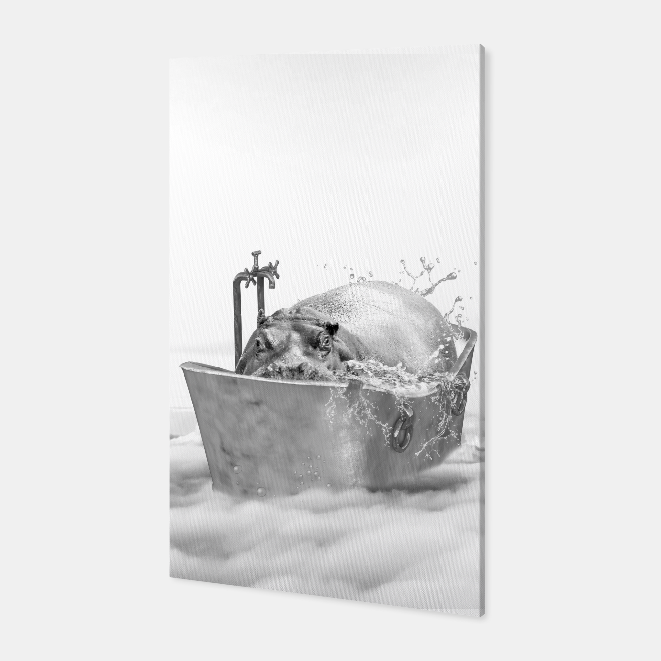 Image of HIPPO BATH Canvas - Live Heroes