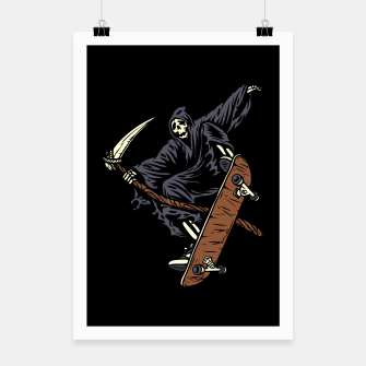 Thumbnail image of Skate Reaper Poster, Live Heroes