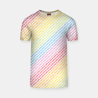 LOVE IS LOVE T-Shirt Bild der Miniatur