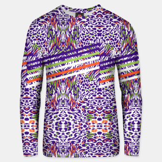 Miniature de image de Abstract animal print colorful Sudadera unisex, Live Heroes