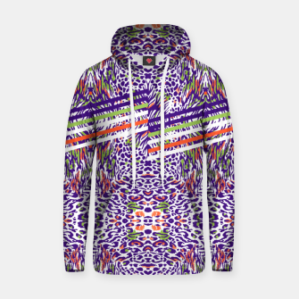 Abstract animal print colorful Sudadera con capucha thumbnail image