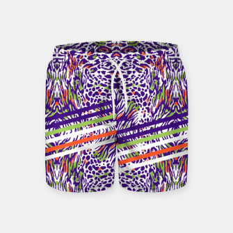 Abstract animal print colorful Pantalones de baño thumbnail image