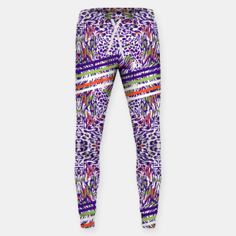 Abstract animal print colorful Pantalones de chándal  thumbnail image