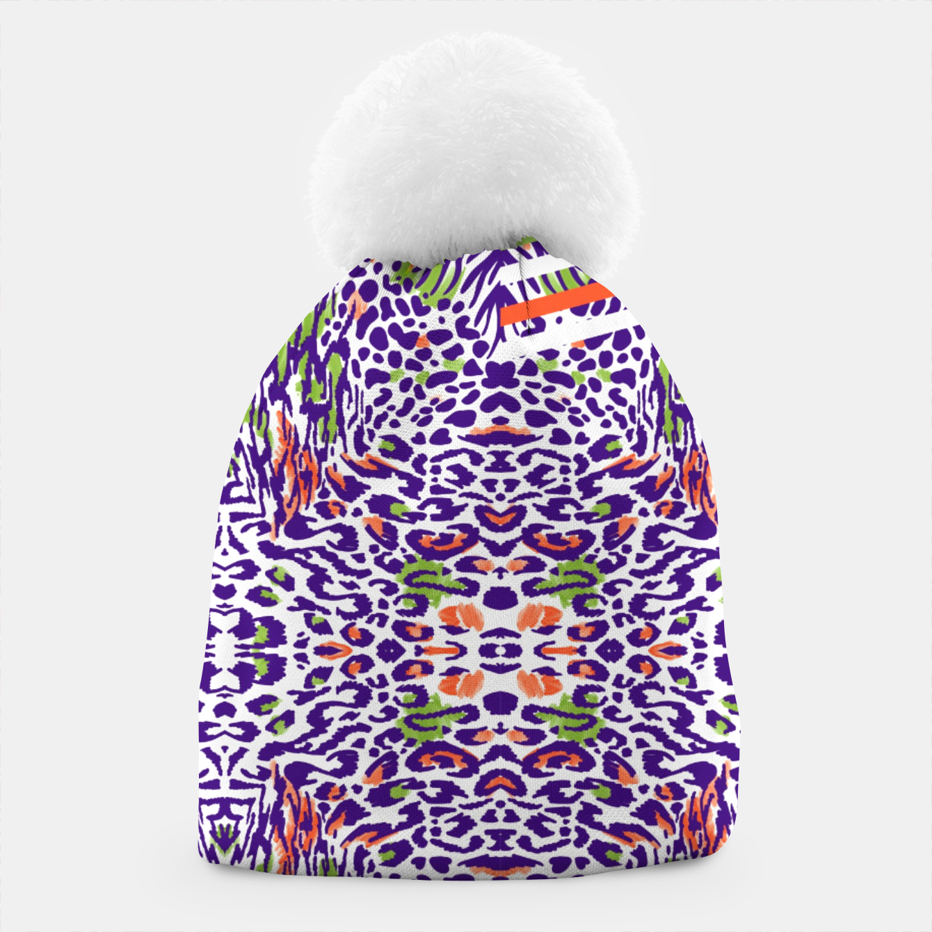 Image of Abstract animal print colorful Gorro - Live Heroes