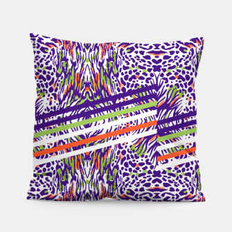 Abstract animal print colorful Almohada thumbnail image