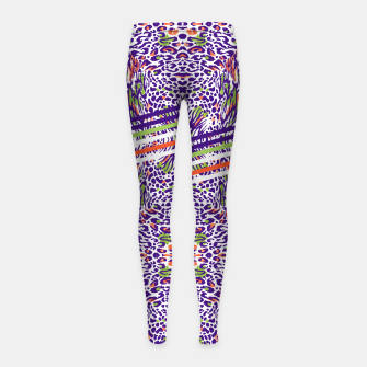 Abstract animal print colorful Leggings para niña thumbnail image