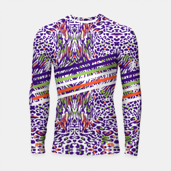 Abstract animal print colorful Longsleeve rashguard thumbnail image