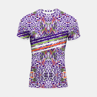 Abstract animal print colorful Shortsleeve rashguard thumbnail image